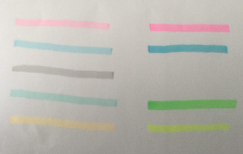 蛍光色の比較